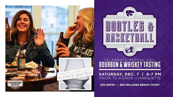 Bootleg and Basketball event is set for the K-State - Marquette basketball game Dec. 7