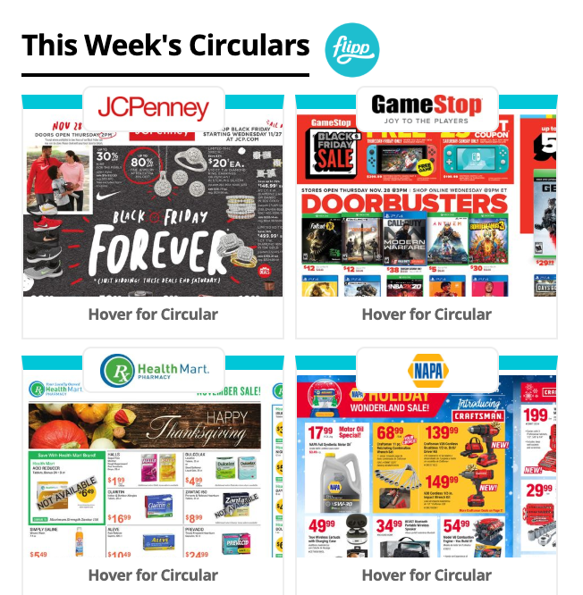 Flipp interactive online circulars available on Hays Post!
