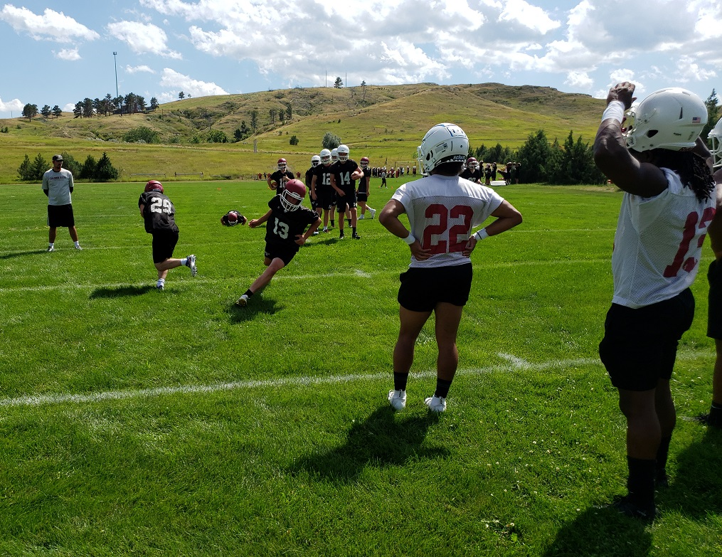 Football season opens in Chadron! CSC coaches and players comment on day one of fall camp