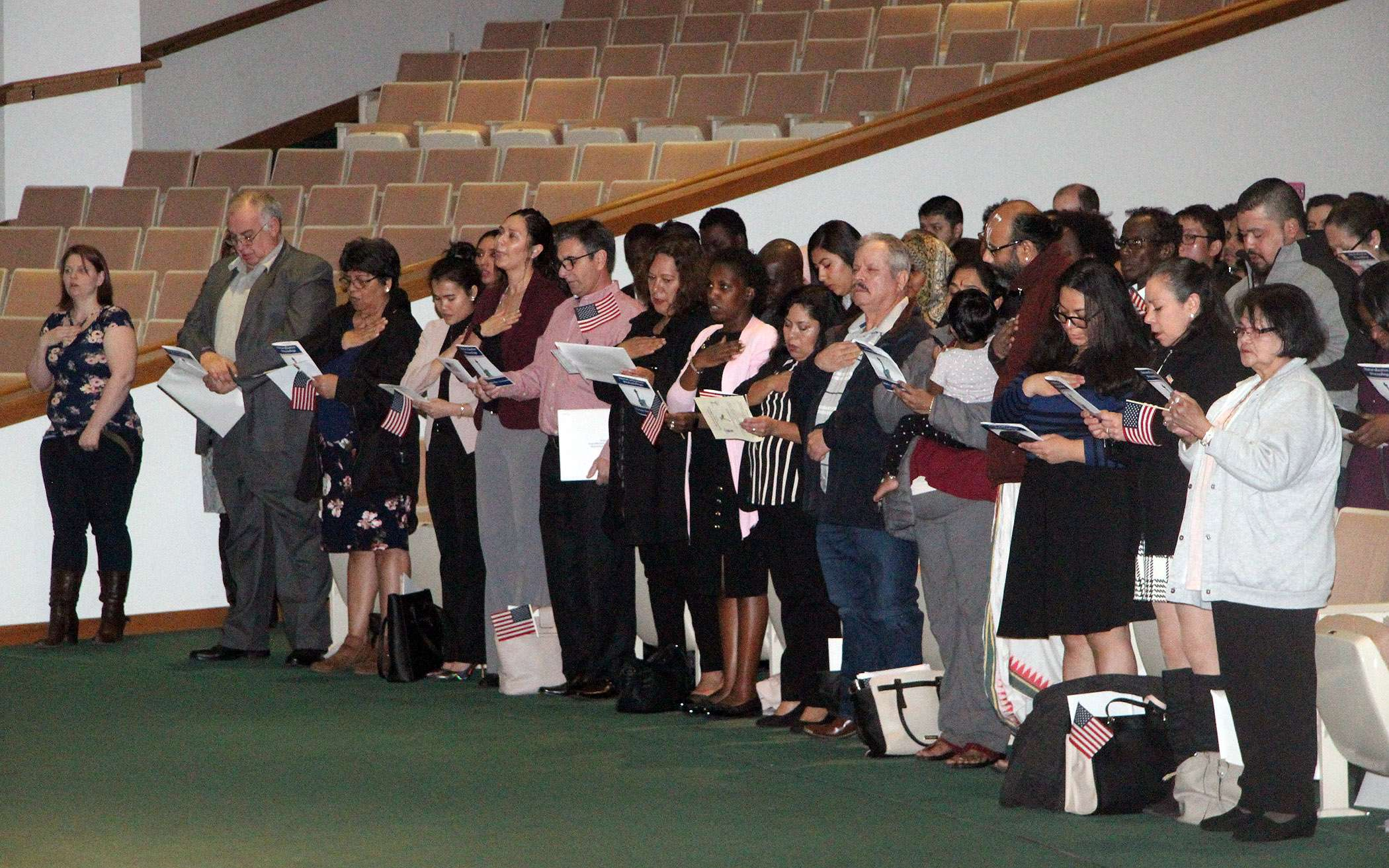 <b>Some of the new U.S. citizens.</b>