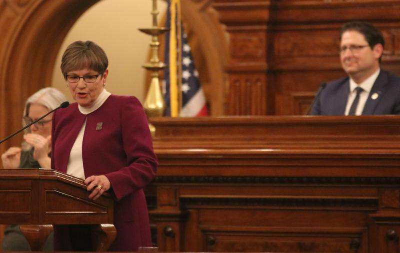 Kansas Gov. Laura Kelly gives her second State of the State address on Wednesday.  Daniel Caudill / Kansas News Service