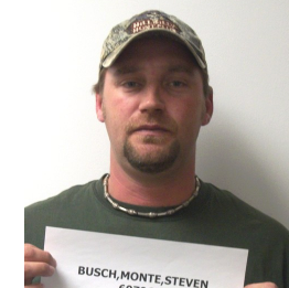 Monte Busch has previous convictions for criminal threat, driving while suspended, driving with open container and driving while habitual violator, according to the Kansas Department of Corrections