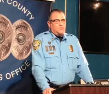 Sheriff Jeff Easter during Wednesday's news conference