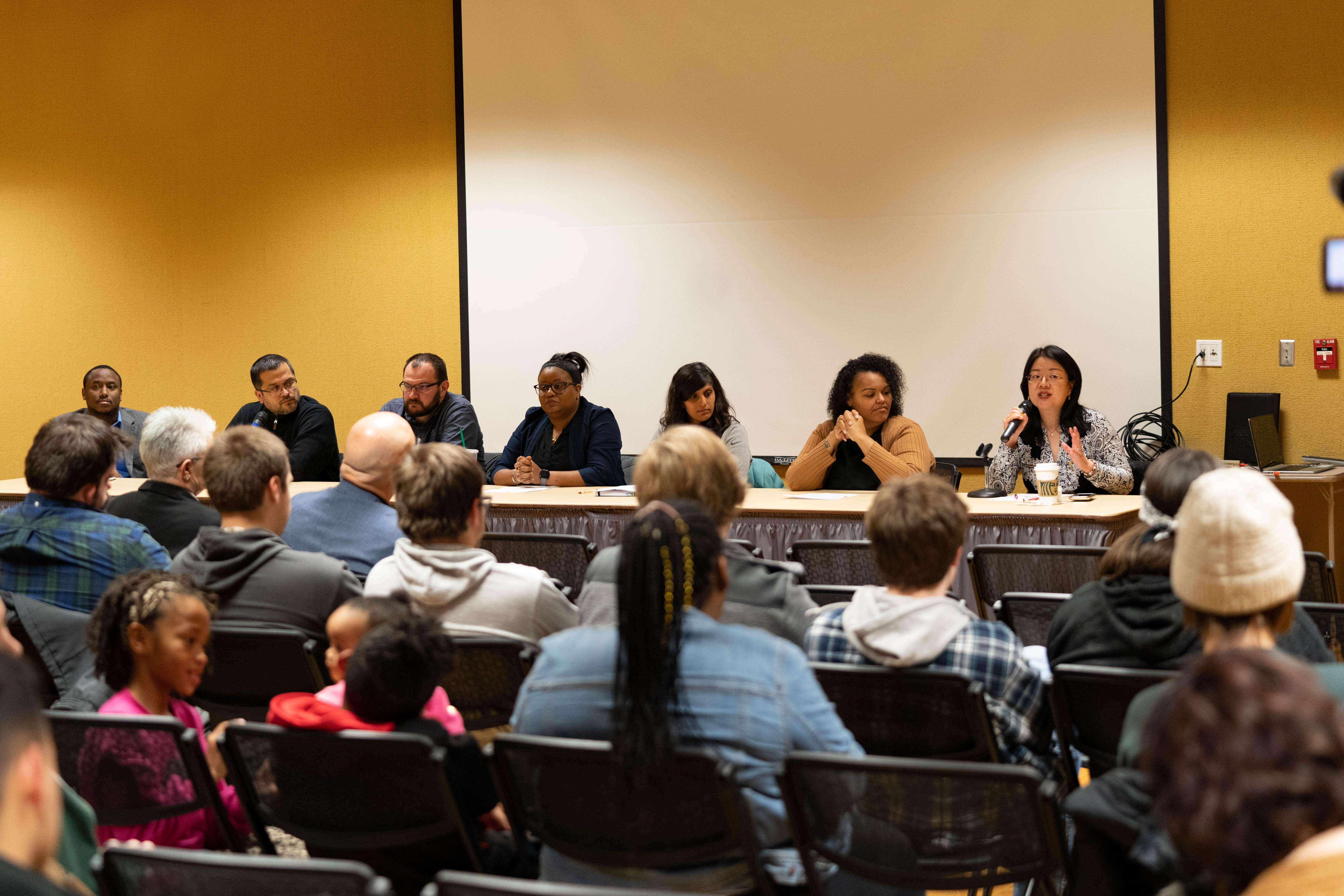 "FHSU faculty from different minority groups talk about mental health stigmas in minority cultures during the panel discussion ""Can You See Me?""  (Courtesy photo)"