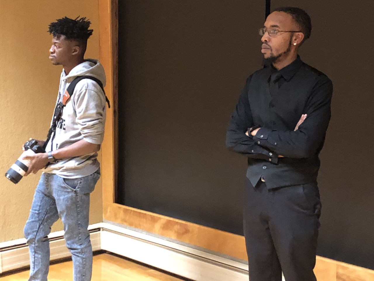 August Phlieger, AP Productions, produced the film of three FHSU students who've struggled with mental health issues, including Demetrius Chance (at right).