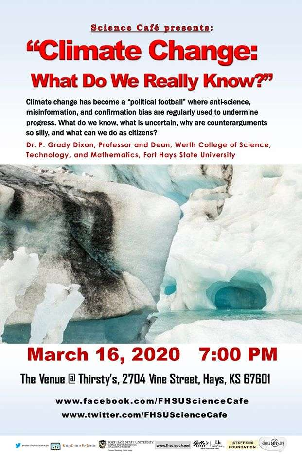 Climate change to be explored by FHSU Science Cafe