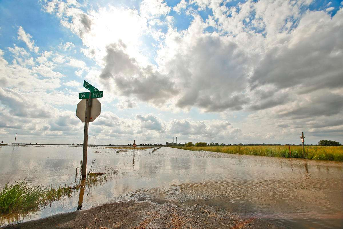 Flooding in Larned, Kansas in August 2019. Credit Chris Neal / Kansas News Service