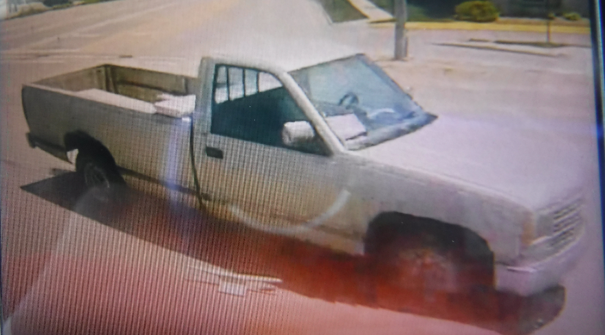 <b>An image of Scott's pickup&nbsp;that was captured by a camera mounted in the cab of the cement truck.&nbsp;</b>Photo courtesy Salina Police Department&nbsp; &nbsp;&nbsp;
