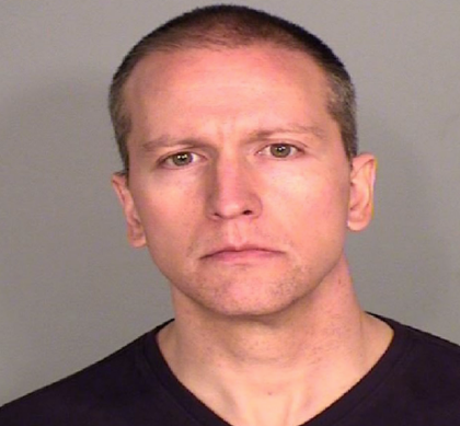 Fired Minneapolis police officer Derek Chauvin is jailed  on a $500,000 bond  charged with 3rd degree murder -photo Ramsey County Sheriff's Office