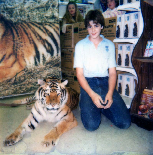 In 1983, Steve Klein had his first encounter with a tiger at a drug store in Ames, Iowa. Now, he says, he looks back in horror at that experience.