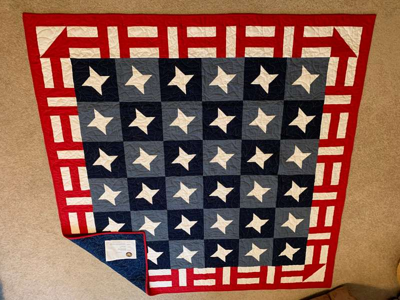 <b>Wood's Quilt of Valor.</b>