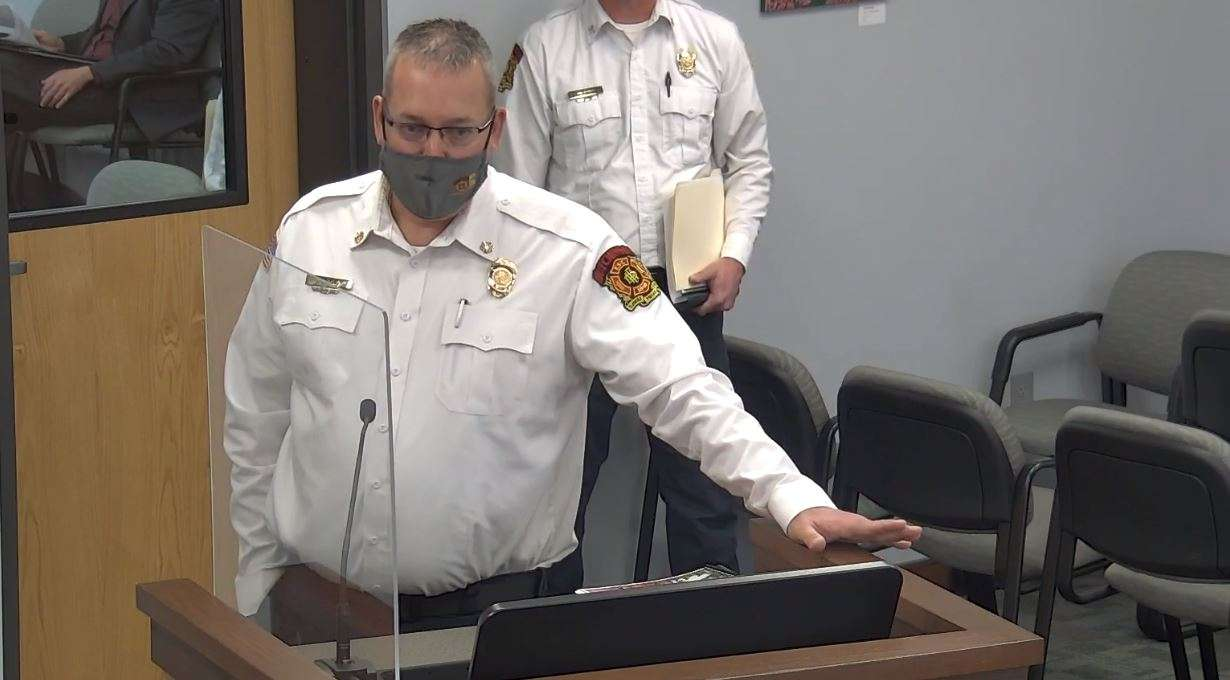File Photo: Hutchinson Fire Chief Steven Beer